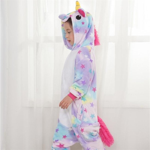 Girl Unicorn Cosplay Fancy Funny Soft Animal Costume Kid Anime Cartoon Easter Carnival Party OnePiece Onesie Disguise