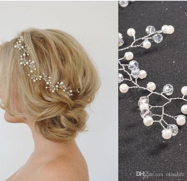 New Arrival Hair Vine Bridal Wedding Crystals Silver Rhinestone Headband Headpiece Tiara Wedding Party Evening Hair Accessory