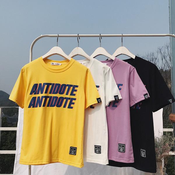 Designer D'été Hommes T Shirts Coton Manches Courtes Lettre Imprimer Hommes Vêtements Casual T-shirts Hip Hop Femmes Mode Streetwear Tshirt 4 Couleur