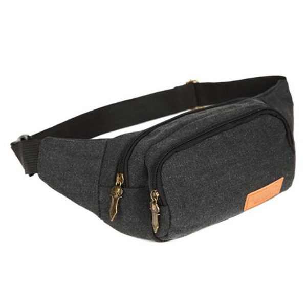 Men's Waist Chest Bags Pac2017 popular Canvas Casual Crossbody Shoulder Bag Chest Bag Waist Pacto travel wholesale A7