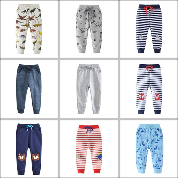 Cotton Boys Joggers Spring Autumn Boutique Baby Clothes Full Length Cute Baby Pants 18072503