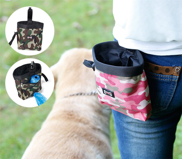 Pet Training Pouch Camouflage pet training pockets Dog training waist Pouch Outdoor snack bag garbage bag DHL free shipping