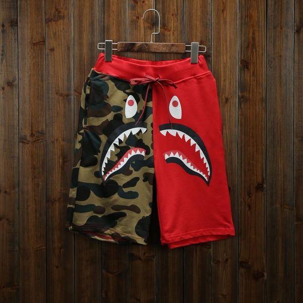 top popular 2018 New Summer Men's Shark Shorts Cotton Camo Causal Shorts Men Casual Camouflage Skateboard Short Pants Loose Streetwear 2019