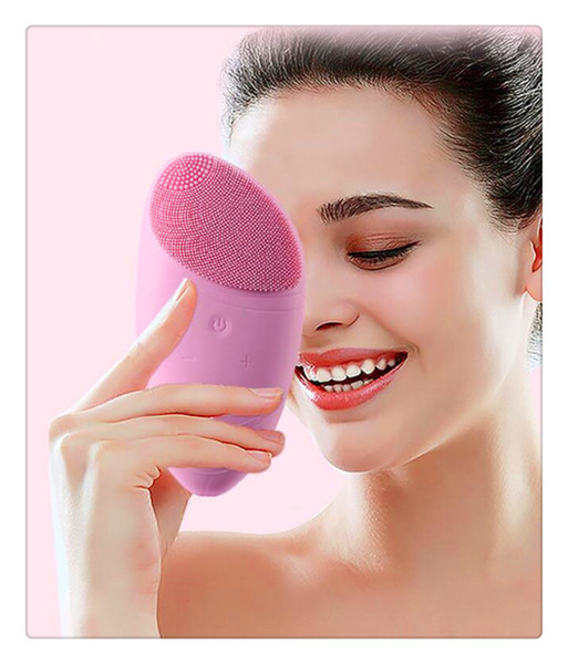 SZQY Electric Face Cleanser Vibrate Pore Clean Silicone Cleansing Brush Massager Facial Vibration Skin Care Spa Massage Face Scrubbers