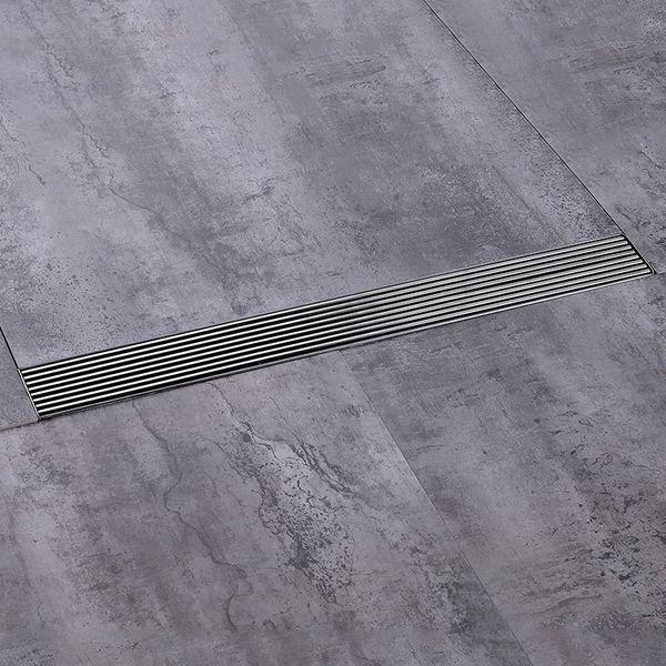 Draineur de douche de baignoire crépine 60 cm 304 drains de sol en acier inoxydable drain de douche linéaire