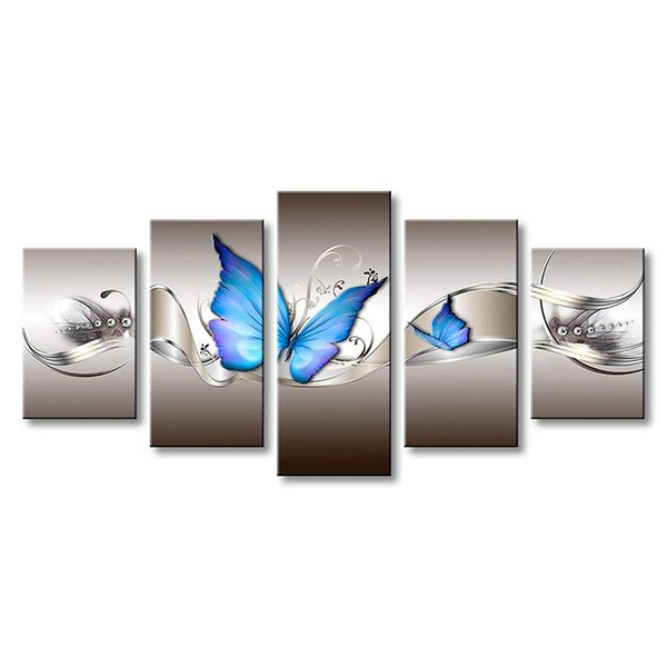 Home Decor Gift Modern Style Butterfly Canvas Wall Art Decor Unframed Print Painting HD Printed Oil Paintings