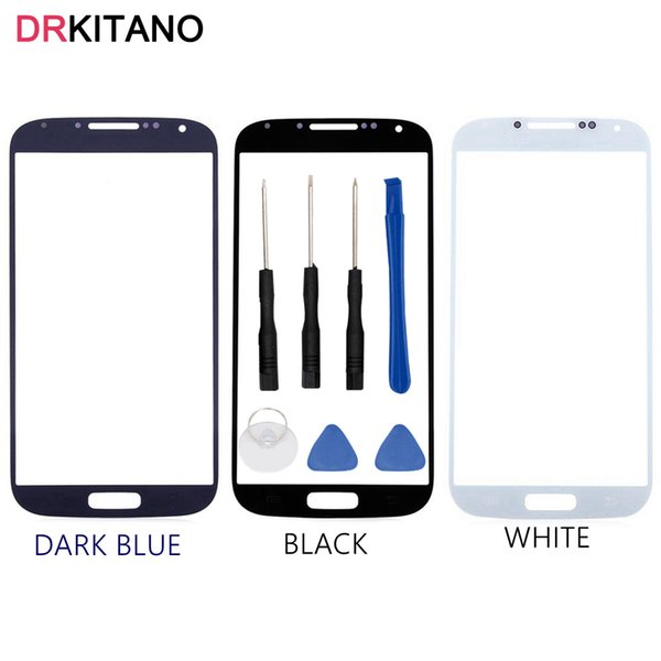 For Galaxy S4 i9500 i9505 Front Screen Glass Lens Touch Panel Outer Cover Replacement For S4 Front Glass Lens