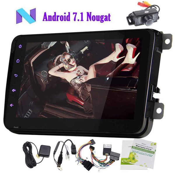 Eincar Rearview Camera+Android 7 1 Car Stereo Radio Bluetooth GPS  Navigation 8'' Double 2 Din Autoradio In Dash Head Unit Wifi Bluetooth App  Cool Car