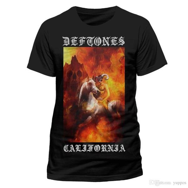 T-shirt Anime Deftones California Chemise S M L XL XXL Métal Rock Band T-shirt Officiel T-Shirt Eté Vêtements Casual
