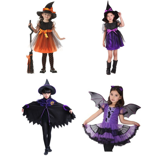 Halloween Vampire Witch Cosplay Costumes for Kids Baby Girls Children Girl Princess Fancy Dress Fantasia Carnival Party Props
