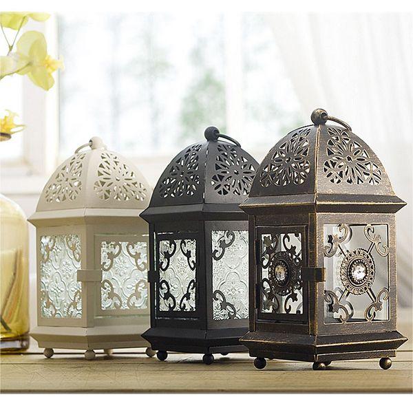 Vintage Metall Mit Glas Hängenden Teelicht Votive Kerzenhalter Laternen