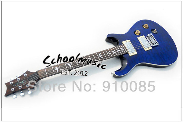 Best Price Selling New Blue Maple Top Custom Electric Guitar Musical Instruments (Free Shipping)