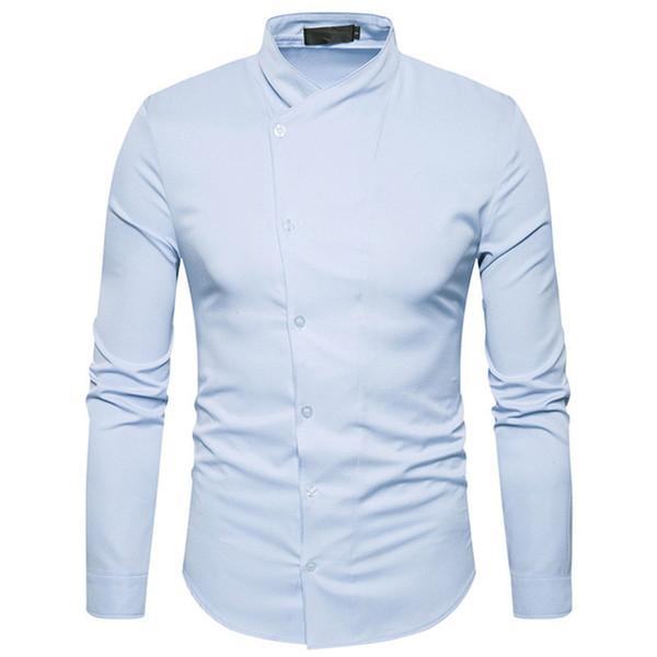 Gentleman Wedding Party Blusa New Tide Young Boys Streetwear Shirts England Style 2XL Slim Boy Outwear Tops Brand Men Shirt 2018