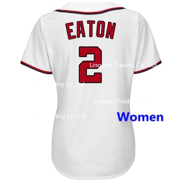 Вашингтон женщины Джерси 2 Адам Итон вышивка логотипы 100% сшитые  прохладный база Бейсбол кофта Бесплатная 6bb2c8c0f86
