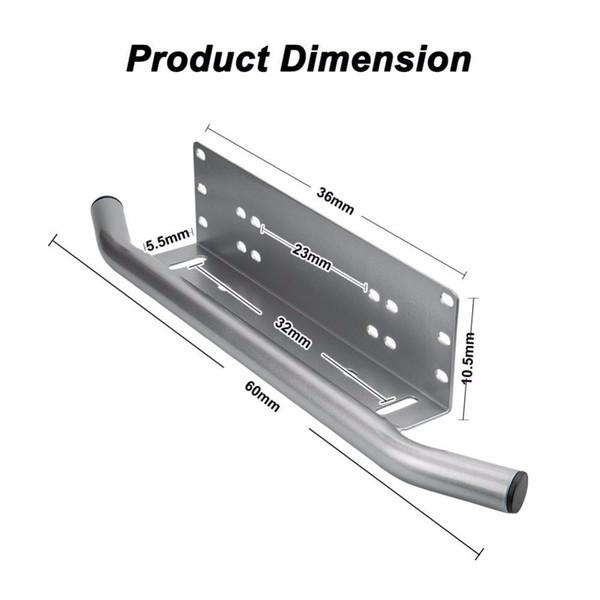 Black Bull Bar Front Bumper License Plate Mount Bracket Holder Offroad Day Light Bar For Off-Road Light LED Work Lamps