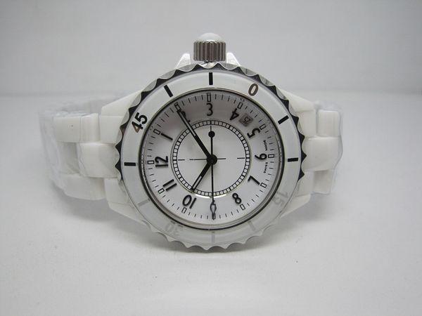Venda quente nova moda feminina estilo relógio de quartzo movimento relógios de luxo para as mulheres relógio de cerâmica branca c02