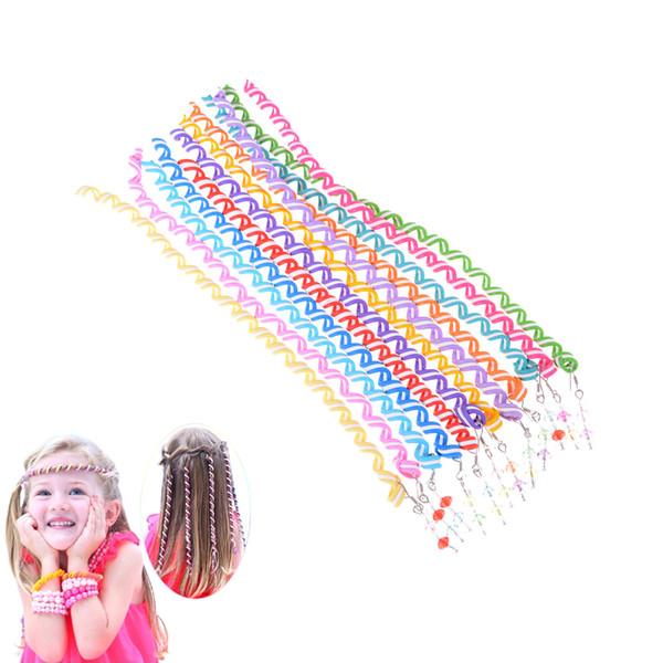 1PCS Children Girl Hair Curler Rope Braid Colorful Headwear Tool Girl Hair Accesories Drop Shipping