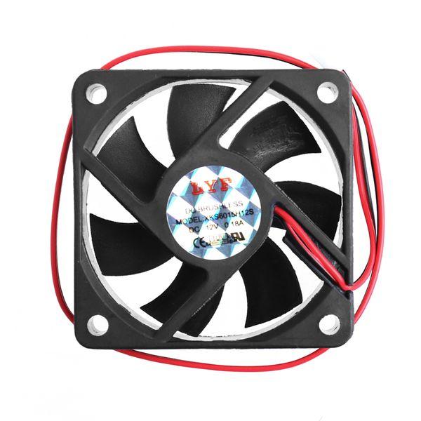 1 Set DC 12V 2-Pin 60x60x15mm PC Computer CPU System Sleeve-Bearing Cooling Fan 6015 3500RPM