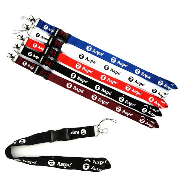 best selling Sport Clothes Brand A ape Lanyard CellPhone Strap Necklace Chain String E-Cigarette ID card holder For Camera iphone XS Max Note9