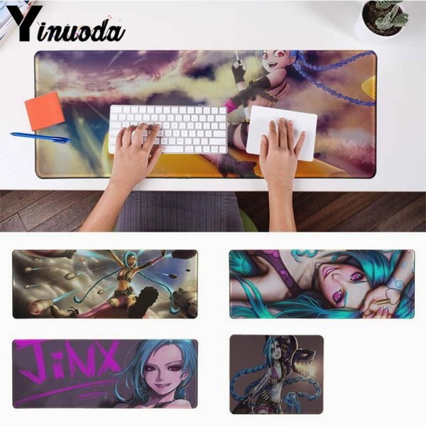 Yinuoda New Designs jinx lol Durable Rubber Mouse Mat Pad Size for 180*220 200*250 250*290 300*900 and 400*900*2mm