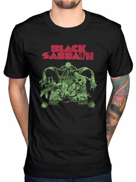 Cool T Shirts Designs O-Neck Black Sabbath Sabbath Bloody Sabbath Cutout Men Short Sleeve Broadcloth T Shirt