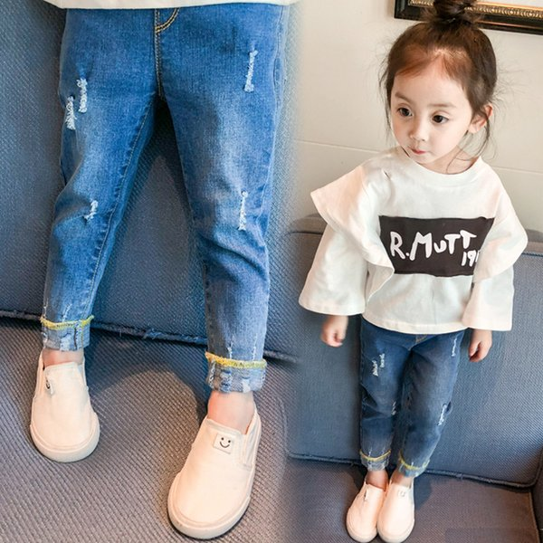 Jeans For Girls New Hot Sale Children Clothes Spring And Autumn Trousers Baby Pants Have Good Quality And For Free Shipping