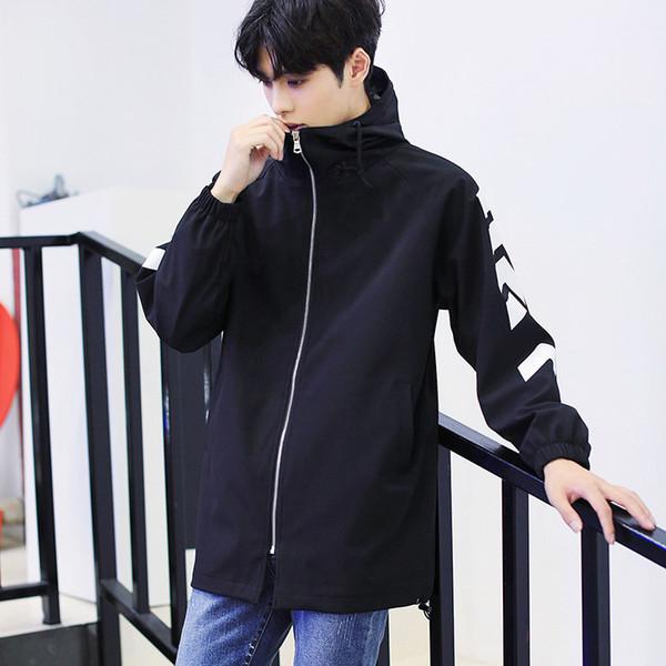 2018 Men Hoodies Spring And Autumn Windrunner Jacket Men Casual Fashion Thin Windbreaker Zipper Coats Free Shipping 45344