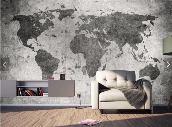 Acquista Europeo Retrò Vintage Mappa Del Mondo Parete Bar Coffe Shop  Murales Camera Da Letto Photo Wallpaper Paesaggio Qualsiasi Dimensione A  $18.1 ...