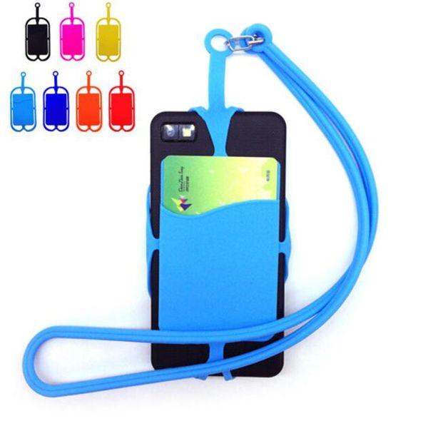 Portachiavi in silicone Portachiavi Collana Portachiavi Portachiavi per iPhone Samsung Huawei Universal Mobile Phone