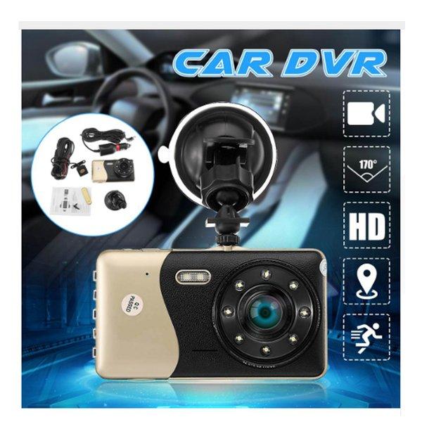 A09 voiture DVR avec caméra à double objectif 4 pouces HD 1080p 170 degrés de soutien inversant la caméra vidéo en boucle