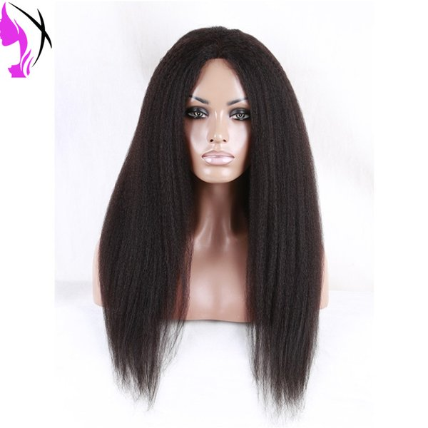 Kinky Straight Braid Lace Front Wig Women's Lace Frontal Wig Natural Black Color Synthetic Lace wig