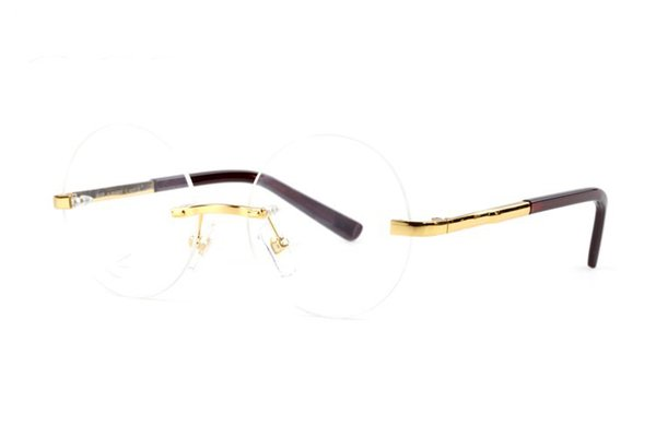 Rimless round sunglasses buffalo cattle horn eyeglasses men and women sunglasses brand glasses eyewear with original logo and boxes