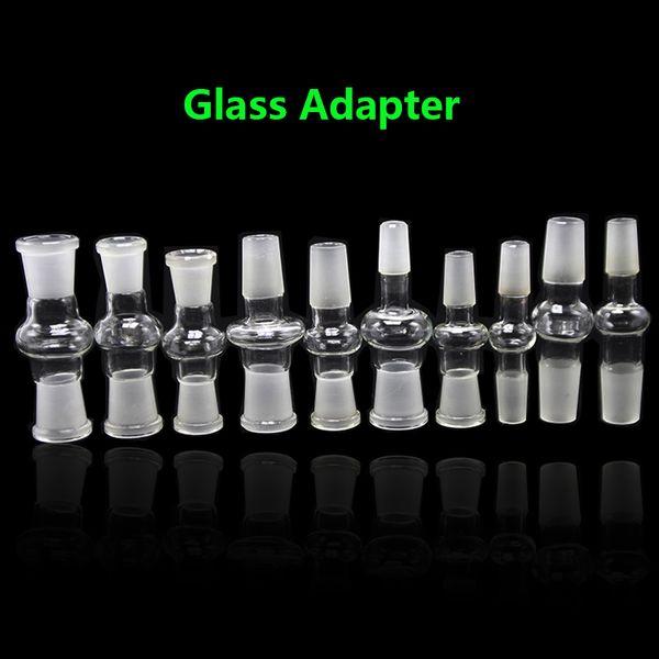 10 modelos de vidro adaptador de bong macho para fêmea conjunta 14 / 18mm fêmea para macho conversor de vidro adaptador comum para bong de vidro de água