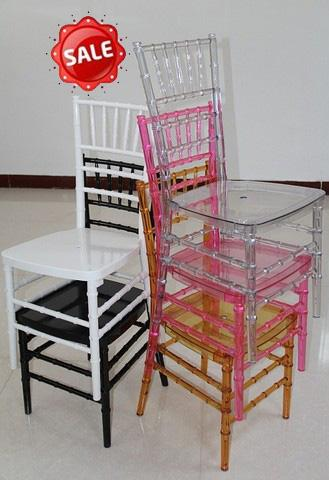 hot sale clear plastic wedding crystal chiavari chair for events