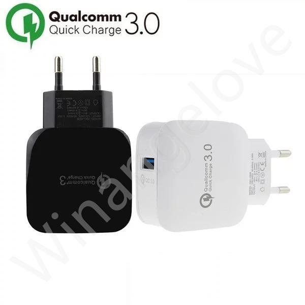 Caricatore da muro CA CA USB ricarica plug-in QC 3.0 EU US Plug per iPhone 7 7 Plus per Samsung s8
