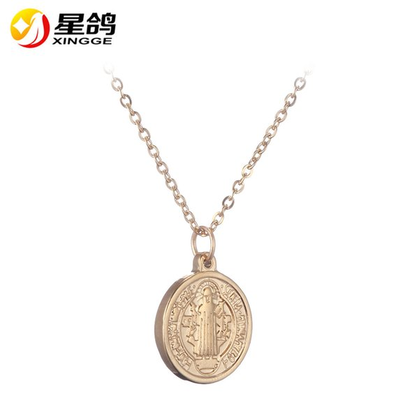 silver/Gold Chain Cross Jesus Necklace Pendant Small Cross Pendant Necklace stainless steel Cross Necklace for Women Fashion Jewelry