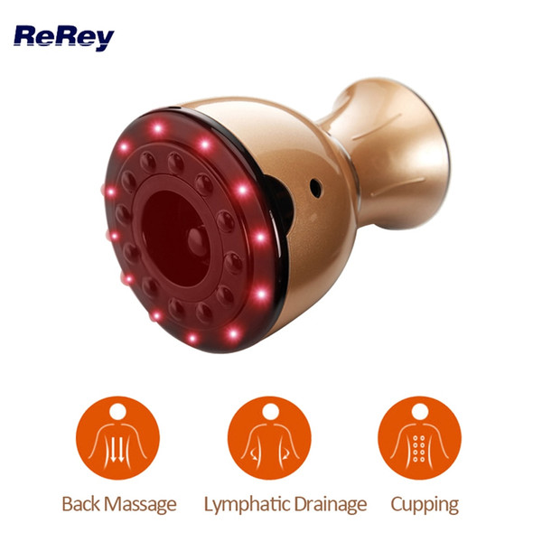 Rechargeable vacuum body ma age machine lymphatic drainage back arm leg neck ma ager cupping therapy health care heat device