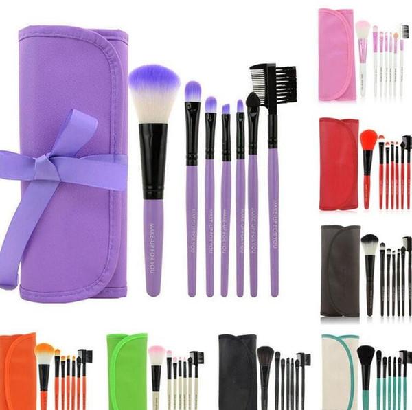 Factory Price!! 7pcs/Set Cosmetic Brush set Makeup Brush Kits makeup brushes make up toiletries brush tools facebrush and eyebrush
