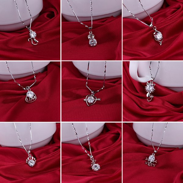 Charming Trendy Silver Skeleton Cute Cat fashion women lovely beautiful LOVE Hearts pendant Statement necklace Korean jewelry wholesale