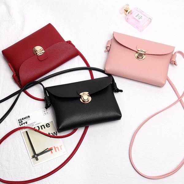 Women PU Leather Ladies Mini Messenger Fashionable Flap Bag Solid Color Girls Classic Shouder Crossbody Bags