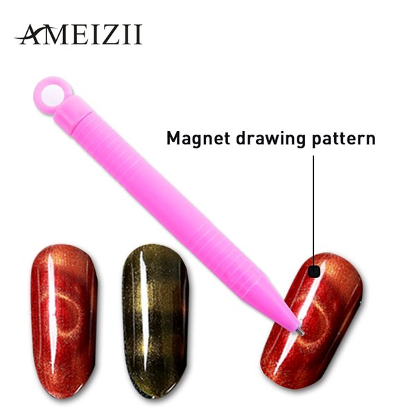 AMEIZII 1pcs Nail Magnet Pen For 3D Magnetic Cat Eyes Nail Gel Polish Manicure Gel Tips Painting Dotting Magnetic Art Tools