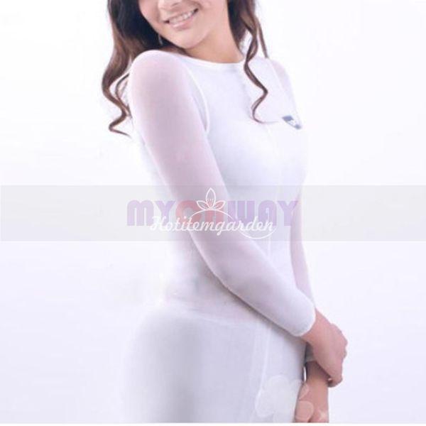 2018 New Design White Body Shaping Roller Massage Costume Vacuum Slimming Nylon Suit for Beauty Machine