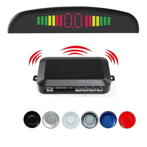 Kit de Sensor de Estacionamento sem fio 4 Buzzers display LED Car parktronic Assistência Auto Backup Backup Radar Monitor System detector