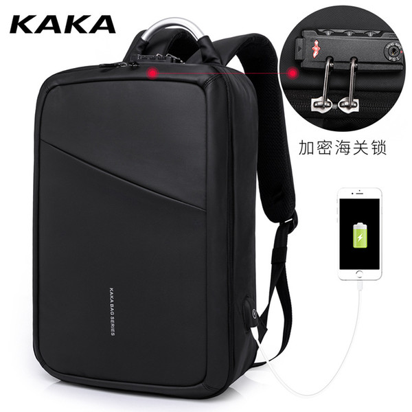 New Oxford cloth double shoulder backpack to guard against theft travel backpack man large capacity business computer backpack