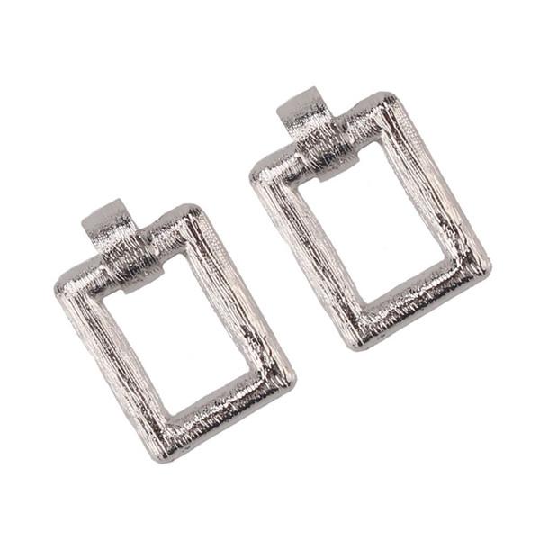 2018 Fashion Square Maxi Drop Earrings Women Gold Silver Metal Dangle Earrings Vintage Wedding Party Jewelry