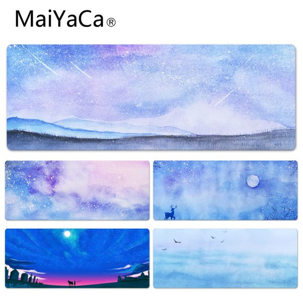 MaiYaCa Under the Stars Durable Rubber Mouse Mat Pad Size for 30x90CM Speed Version Gaming Mousepads