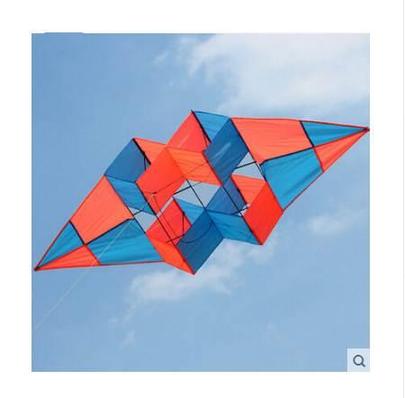 New High Quality Outdoor Fun Multi-color 75 inch Power 3D Kite With Handle Line Good Flying Factory Outlet