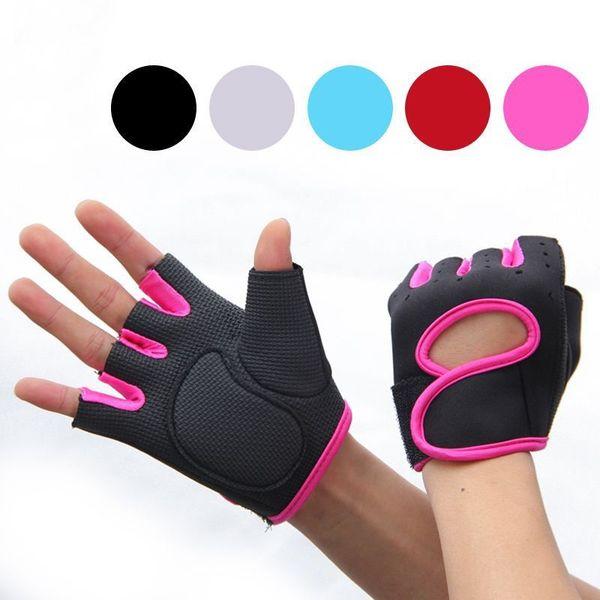 Gym Men Women Non-slip Half Finger Cycling Gloves Sports Wrist Wrap Mittens Hot