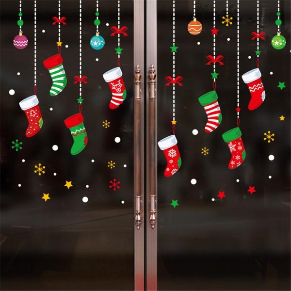 Acquista Pellicole Decorative Finestre Di Natale Fai Da Te Adesivi Elettrostatici Halloween Decorazioni Natalizie La Casa Capodanno 2019 A 3 55 Dal