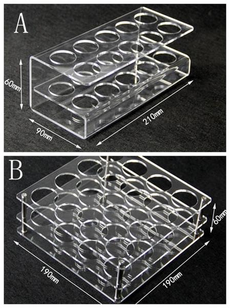 Acrylic display clear stand shelf holder vape rack show case for 10pcs or 16pcs 60ml plastic bottles e liquid eJuice